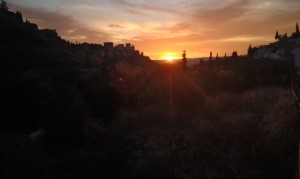 Alhambra, Sunset